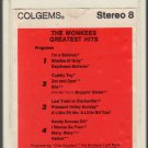 The Monkees - Greatest Hits 1969 COLGEMS T4 8-track tape