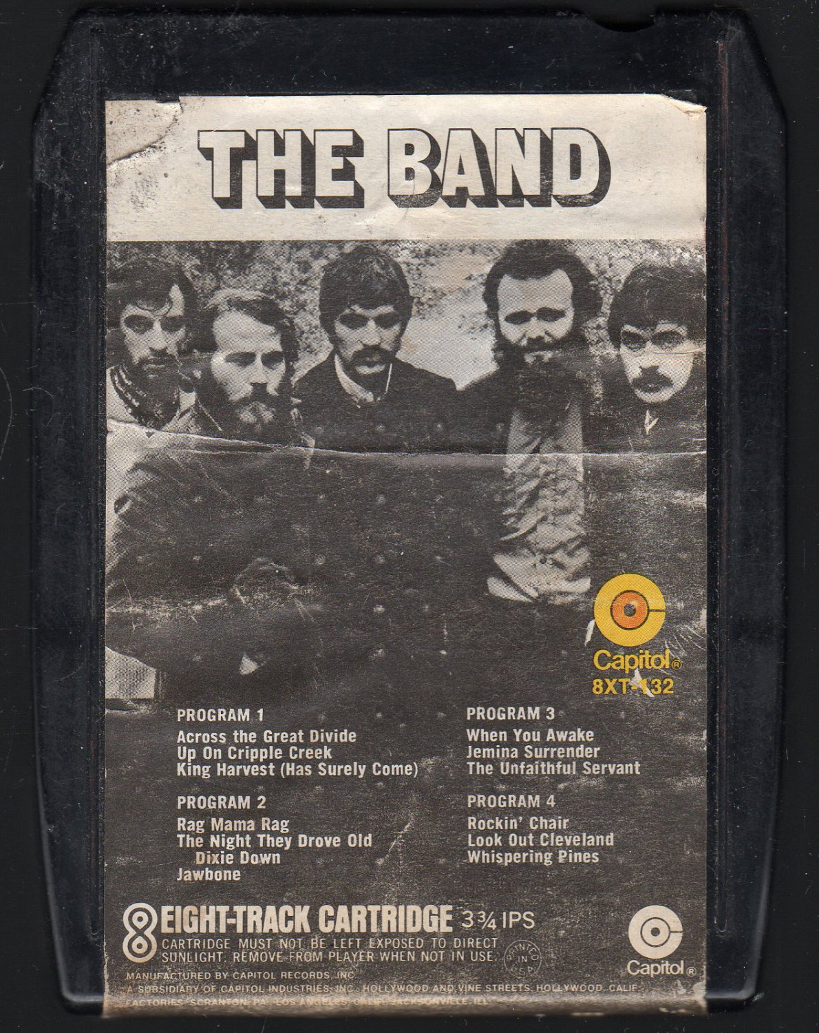 The Band - The Band 1969 CAPITOL A5 8-track tape