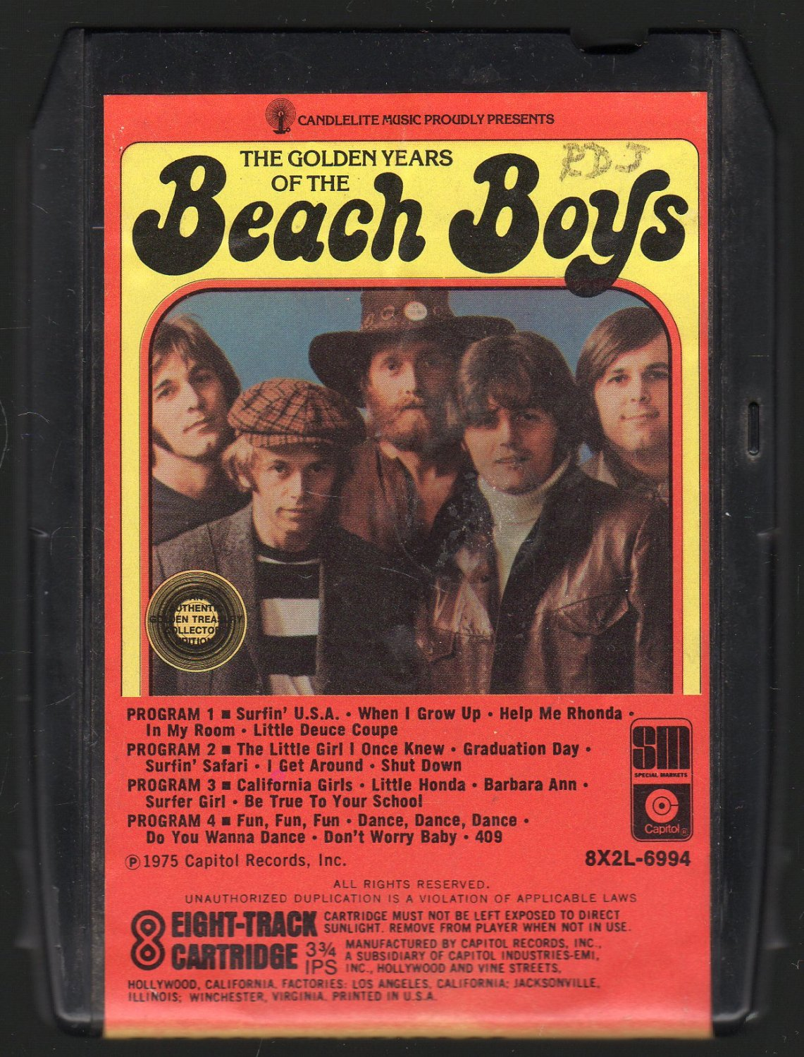 The Beach Boys - The Golden Years 1975 CANDLELITE A10 8-track tape