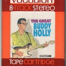 Buddy Holly with The Three Tunes - The Great Buddy Holly 1966 VOCALION A10 8-track tape