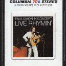 Paul Simon - Paul Simon in Concert: Live Rhymin' 1974 CBS TC8 AC5 8-track tape