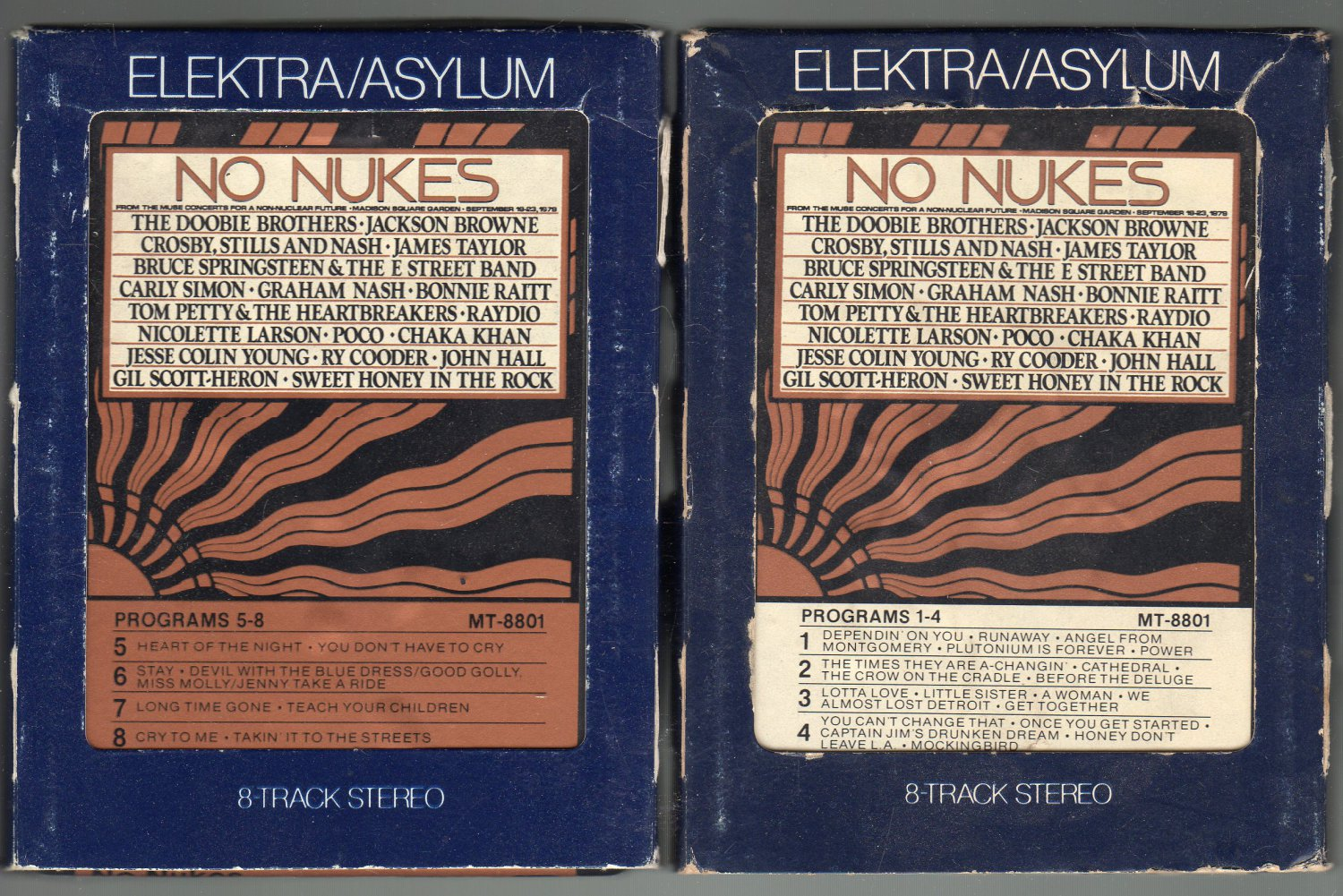 No Nukes - From the Muse Concerts for a Non-Nuclear Future Part A & B 1979 ELEKTRA A51 8-track tape