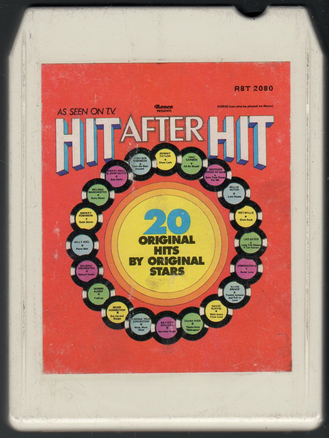 Hit After Hit - Various 1976 RONCO A50 8-track tape