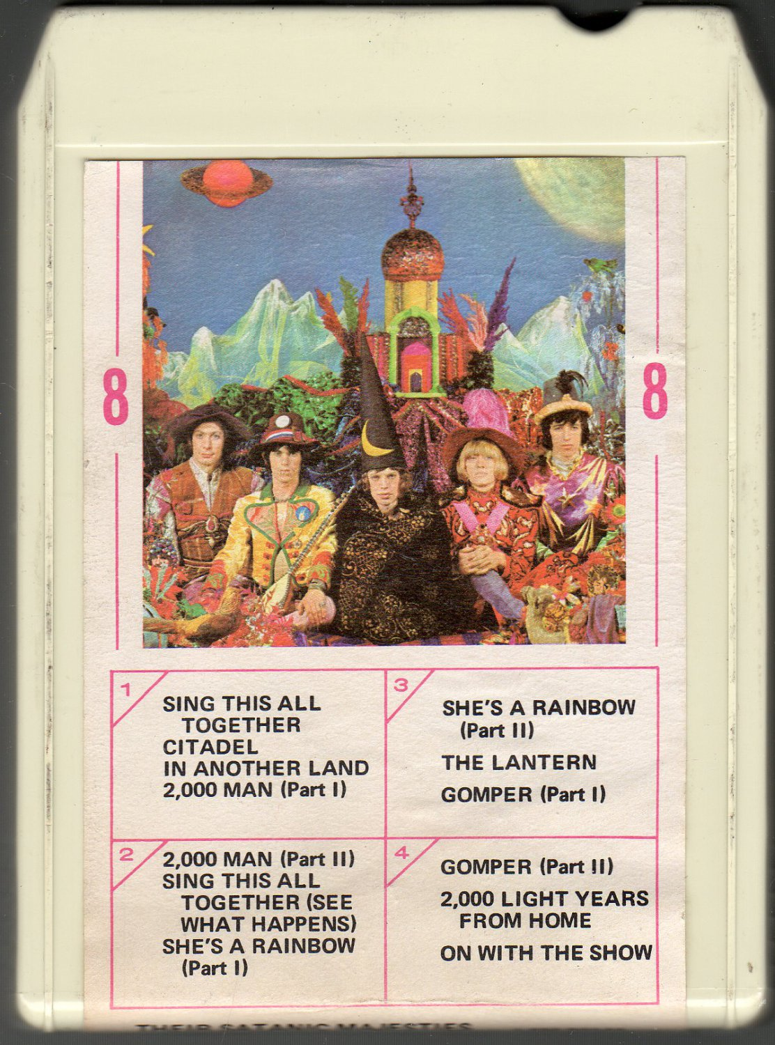 The Rolling Stones - Their Satanic Majesties Request 1967 AMPEX LONDON AC5 8-track tape