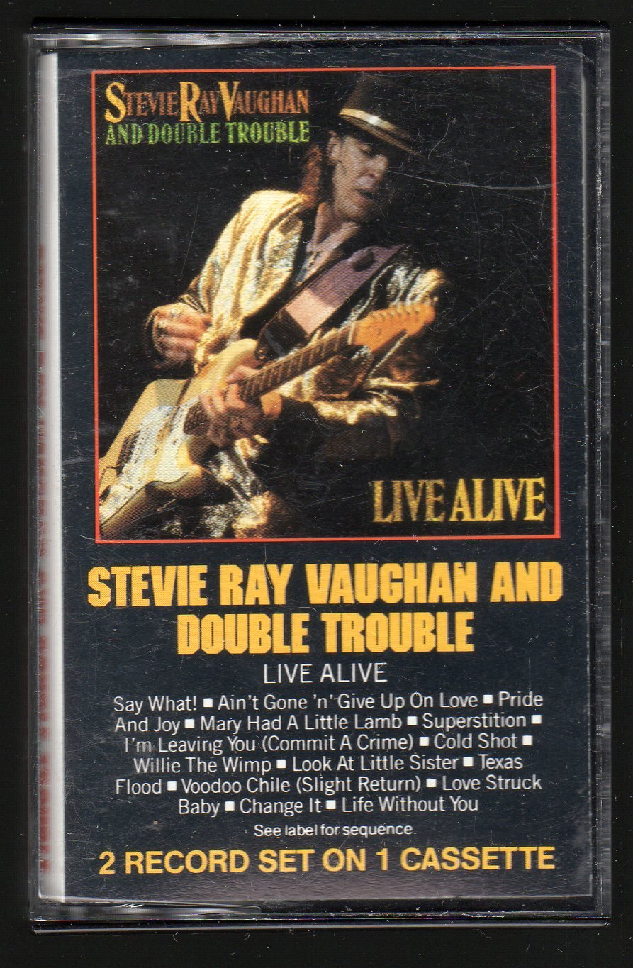 Stevie Ray Vaughan And Double Trouble - Live Alive C4 Cassette Tape