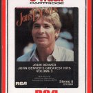 John Denver - Greatest Hits Vol 3 1984 RCA AC3 8-track tape