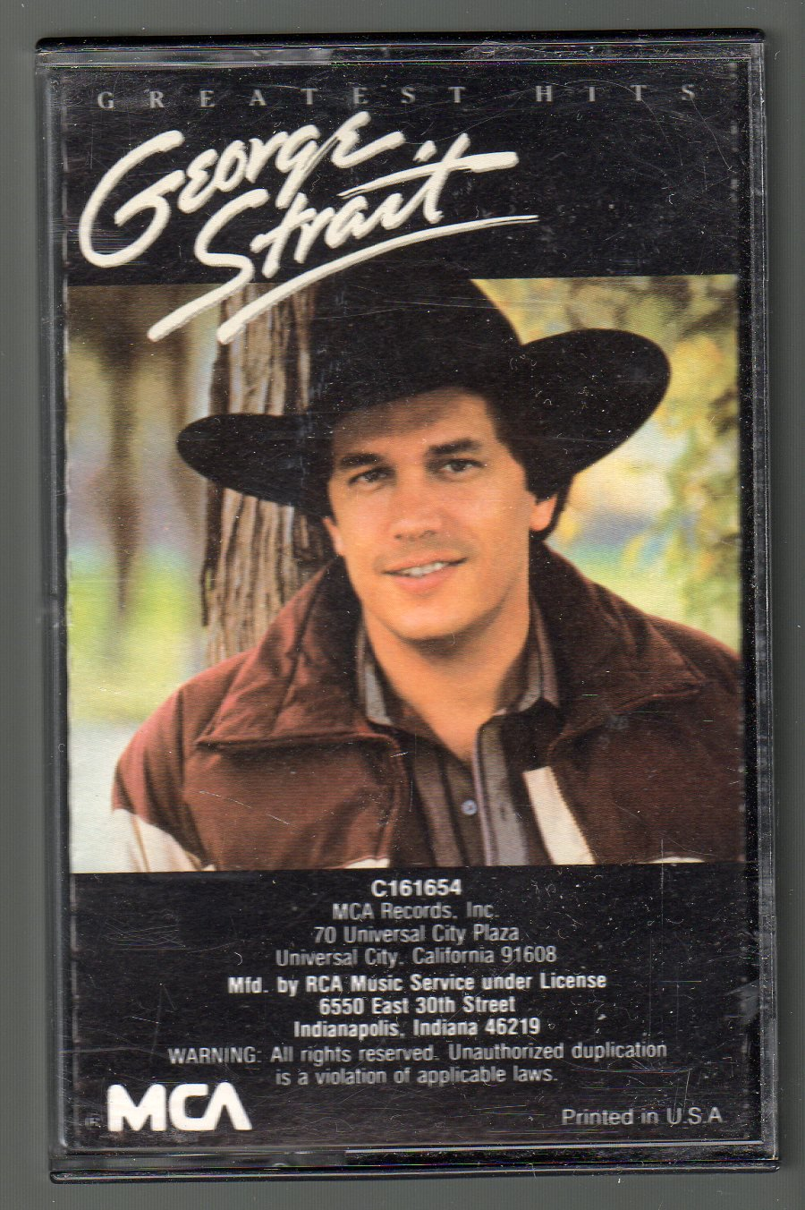 George Strait - Greatest Hits 1985 MCA Cassette Tape