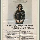 Kris Kristofferson - The Silver Tongued Devil And I 1971 GRT MONUMENT A25 8-track tape