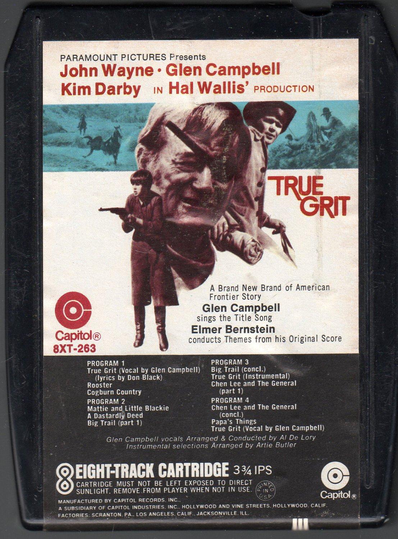 True Grit - Original Motion Picture Score 1969 CAPITOL A25 8-track tape