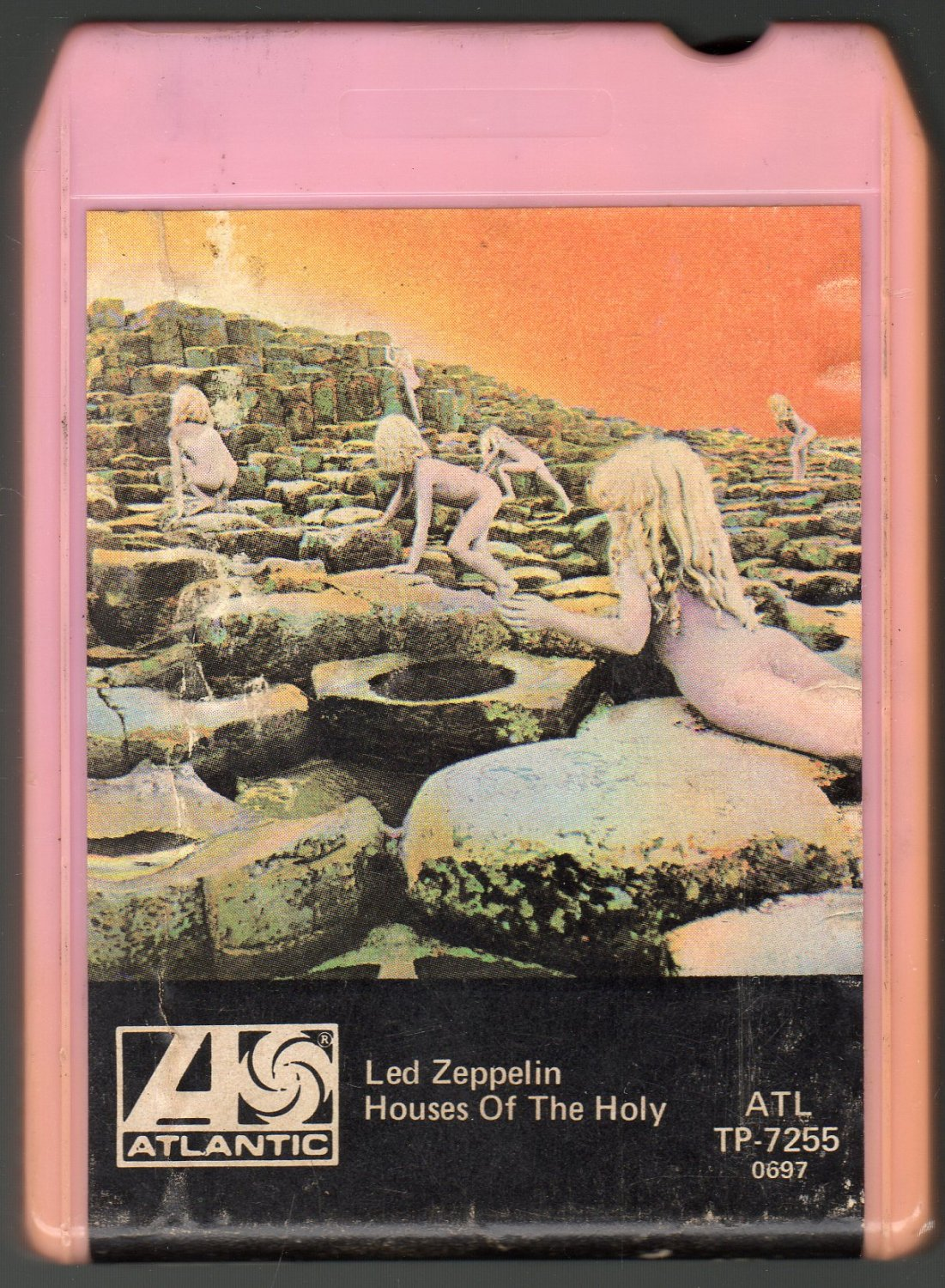 led zeppelin houses of the holy 1973 atlantic a7 sold 8 track tape. Black Bedroom Furniture Sets. Home Design Ideas
