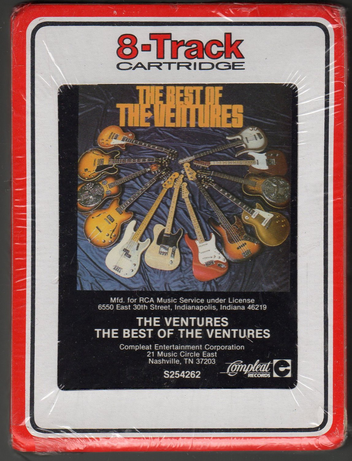 The Ventures - The Best Of The Ventures 1987 RCA Sealed AC2 8-track tape