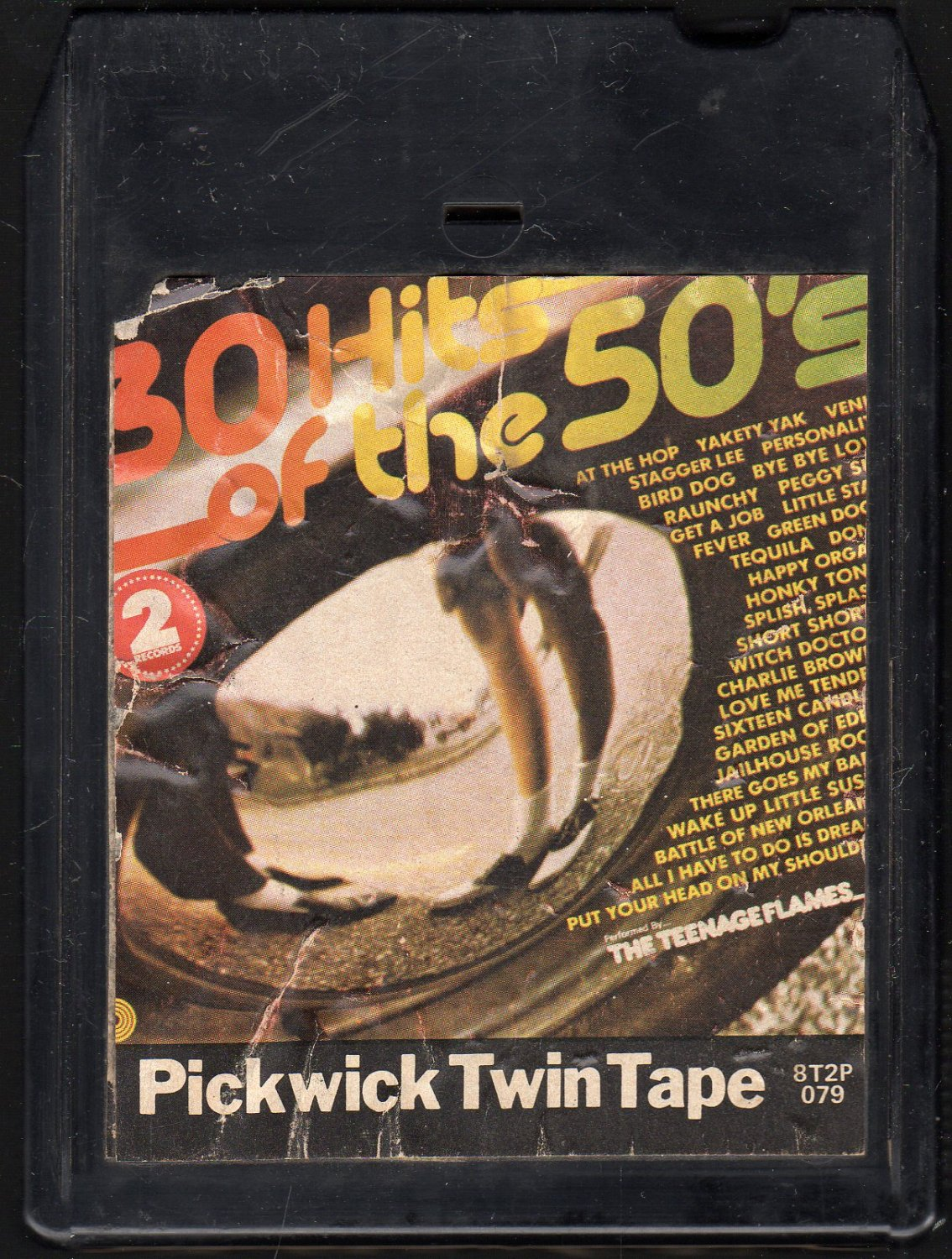 The Teenage Flames - 30 Hits Of The 50's 1974 PICKWICK A44 8-track tape