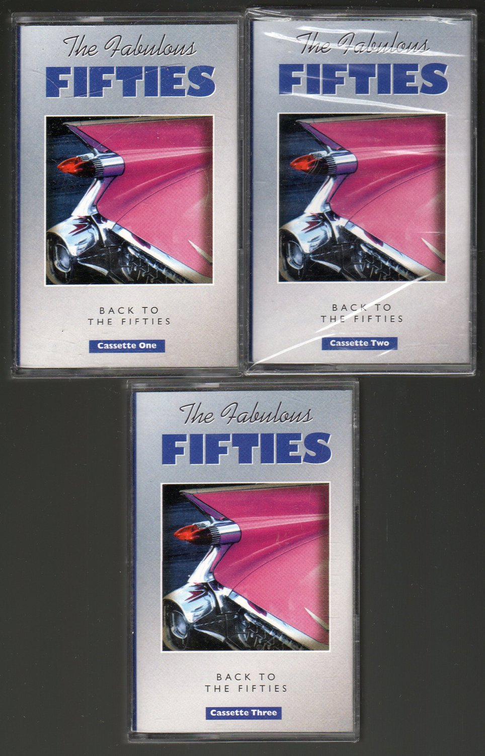 The Fabulous Fifties - Back To The Fifties 1999 BMG 3pk C9 Cassette Tape