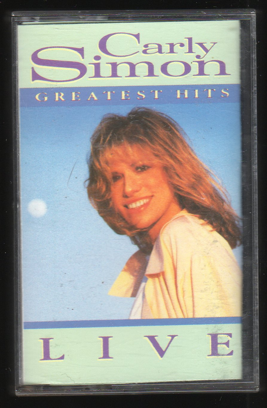 Carly simon greatest hits live 1988 arista c9 cassette tape for 1988 hit songs