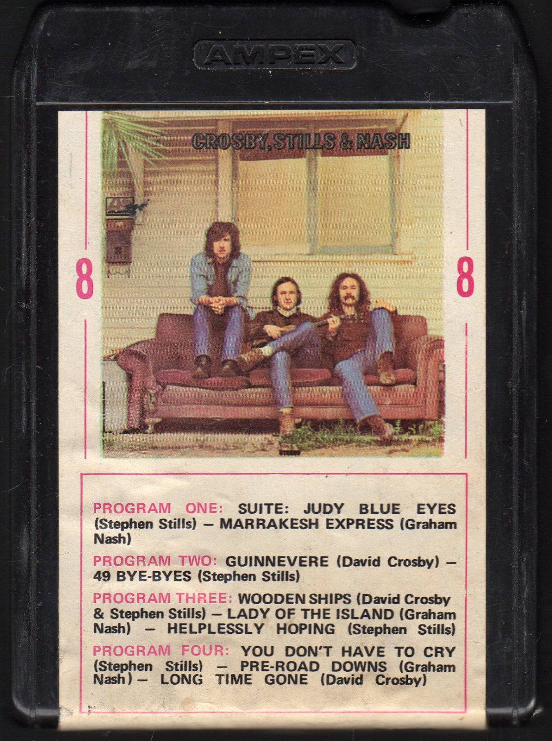Crosby, Stills and Nash - Crosby, Stills and Nash 1969 AMPEX ATLANTIC 8-track tape