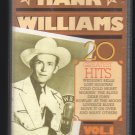 Hank Williams Sr - 20 Greatest Hits Vol 1 C5 Cassette Tape