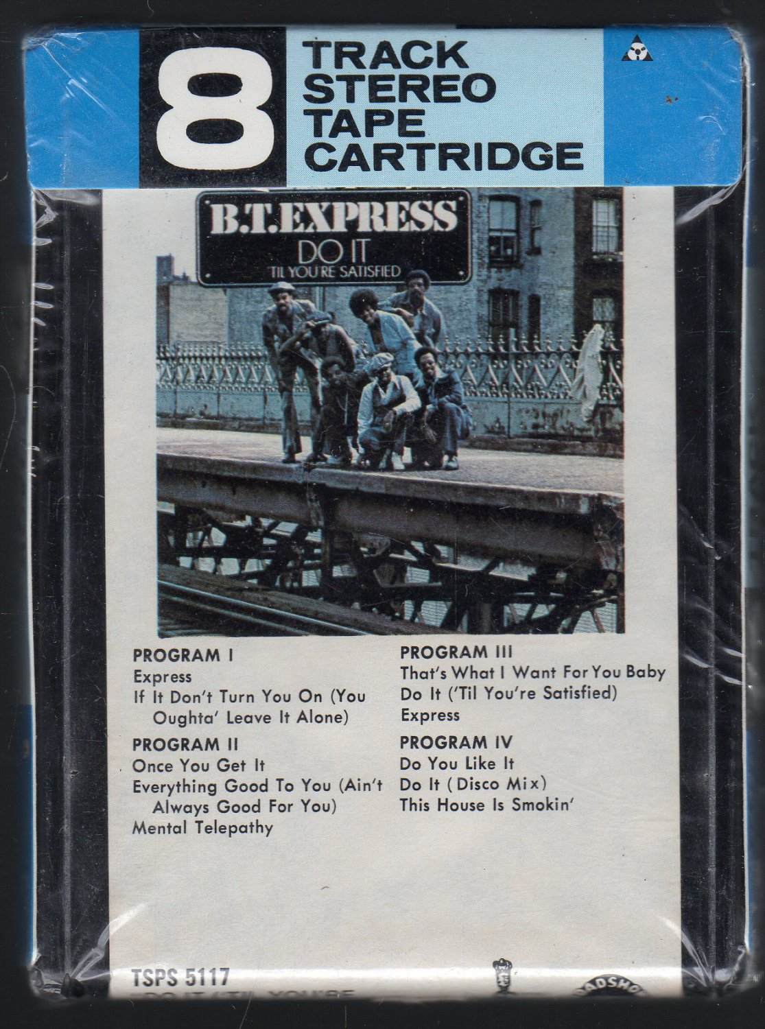 B.T. Express - Do It Till You're Satisfied 1974 Debut SCEPTOR Sealed A47 8-track tape