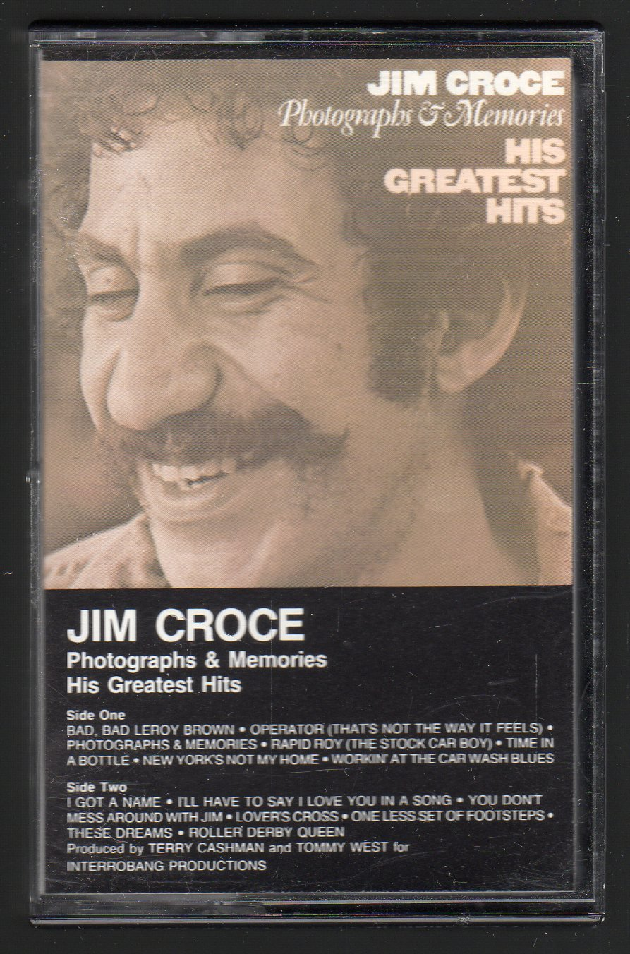 Jim Croce - Photographs & Memories His Greatest Hits 1974 WB Re-issue A15 Cassette Tape