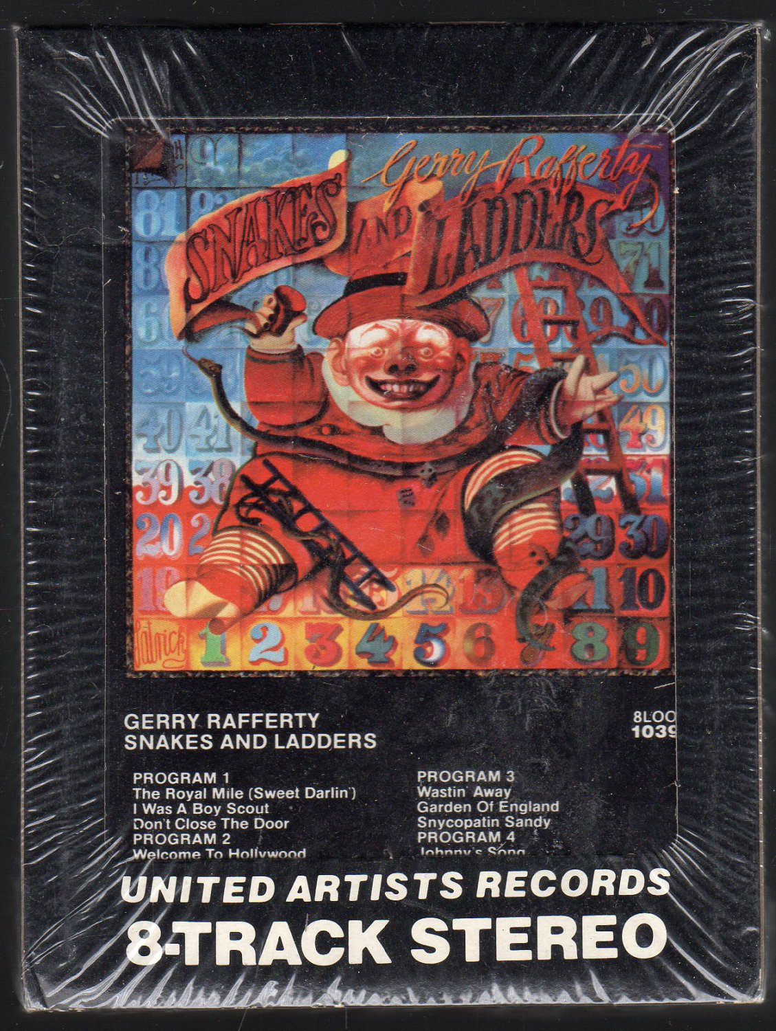 Gerry Rafferty - Snakes And Ladders 1980 UA Sealed A19C 8-track tape