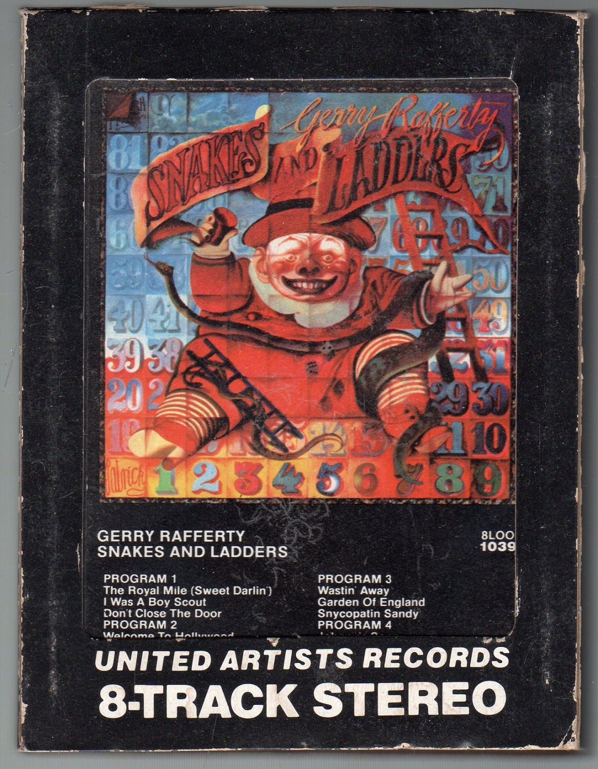 Gerry Rafferty - Snakes And Ladders 1980 UA A29 8-track tape