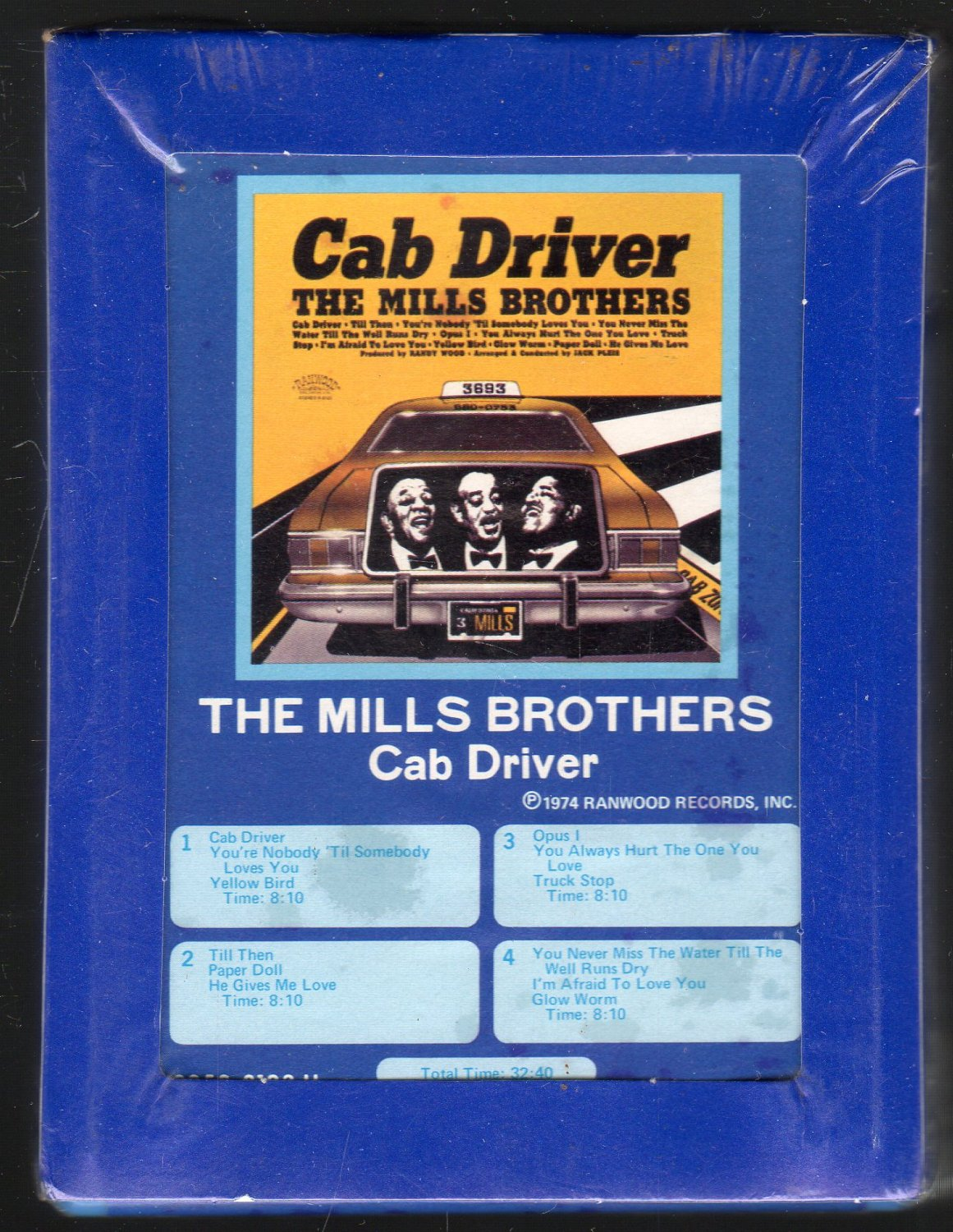 The Mills Brothers - Cab Driver 1968 GRT Sealed Re-issue A51 8-track tape