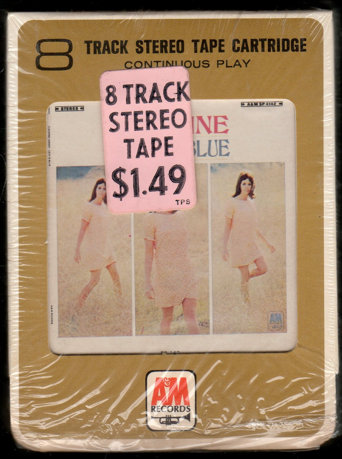 Claudine Longet - Love Is Blue 1968 A&M A42 8-TRACK TAPE