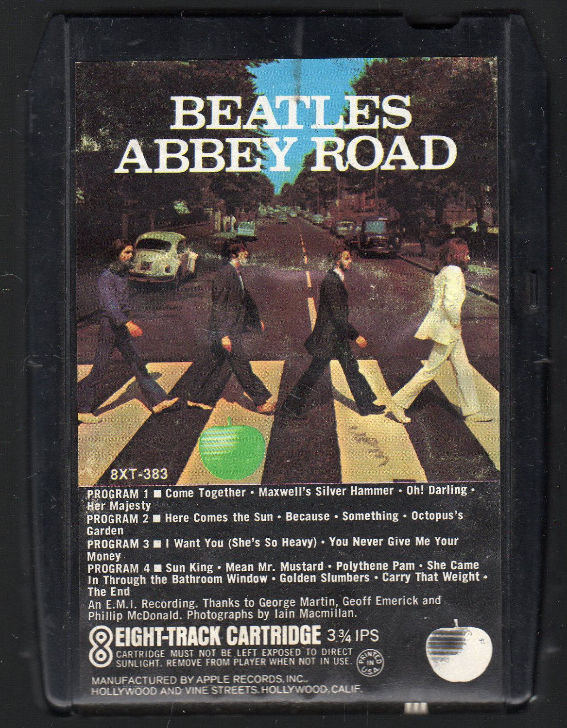 The Beatles - Abbey Road 1970 APPLE A18E SOLD 8-TRACK TAPE