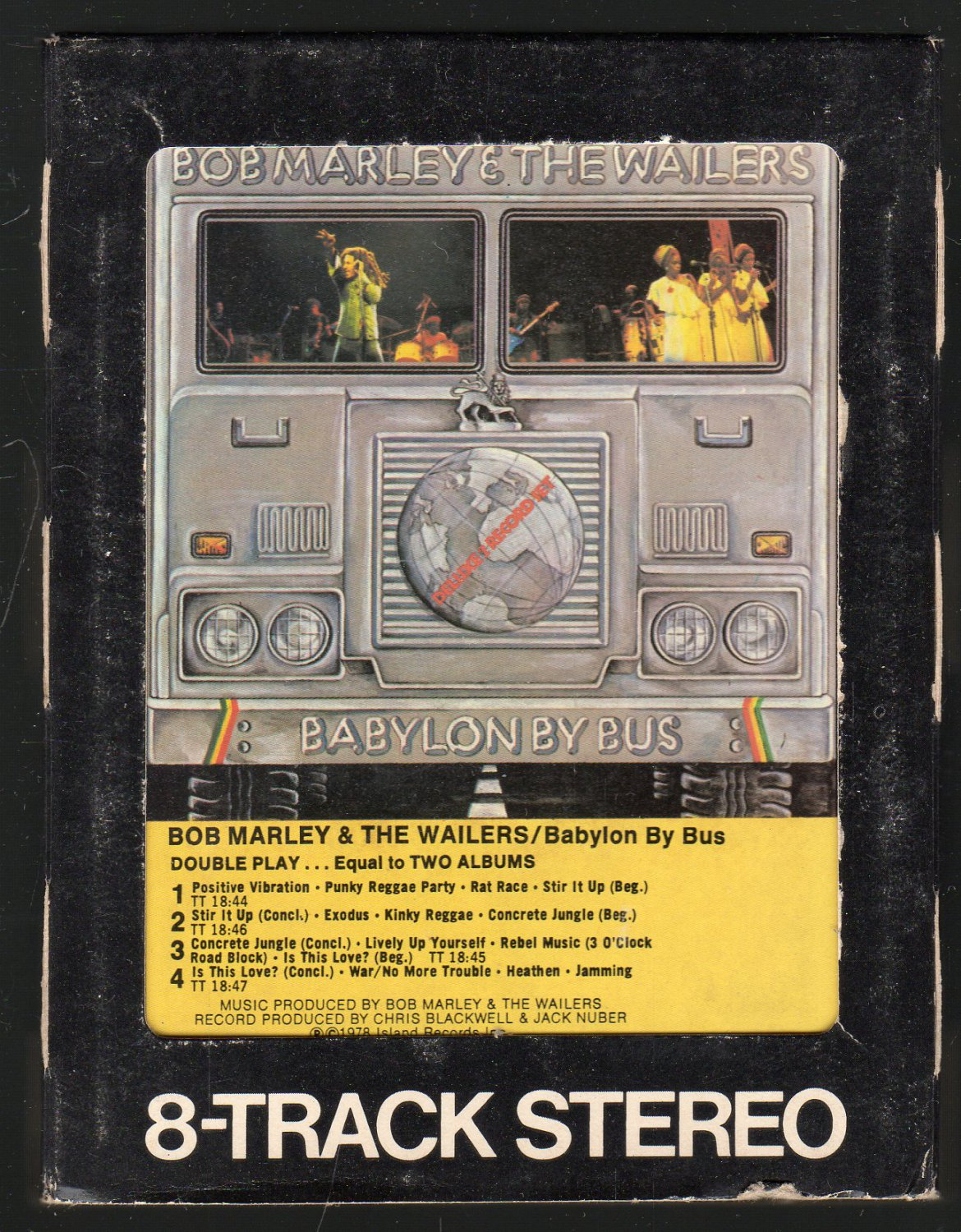 Bob Marley - Babylon By Bus 1978 WB A36 8-TRACK TAPE