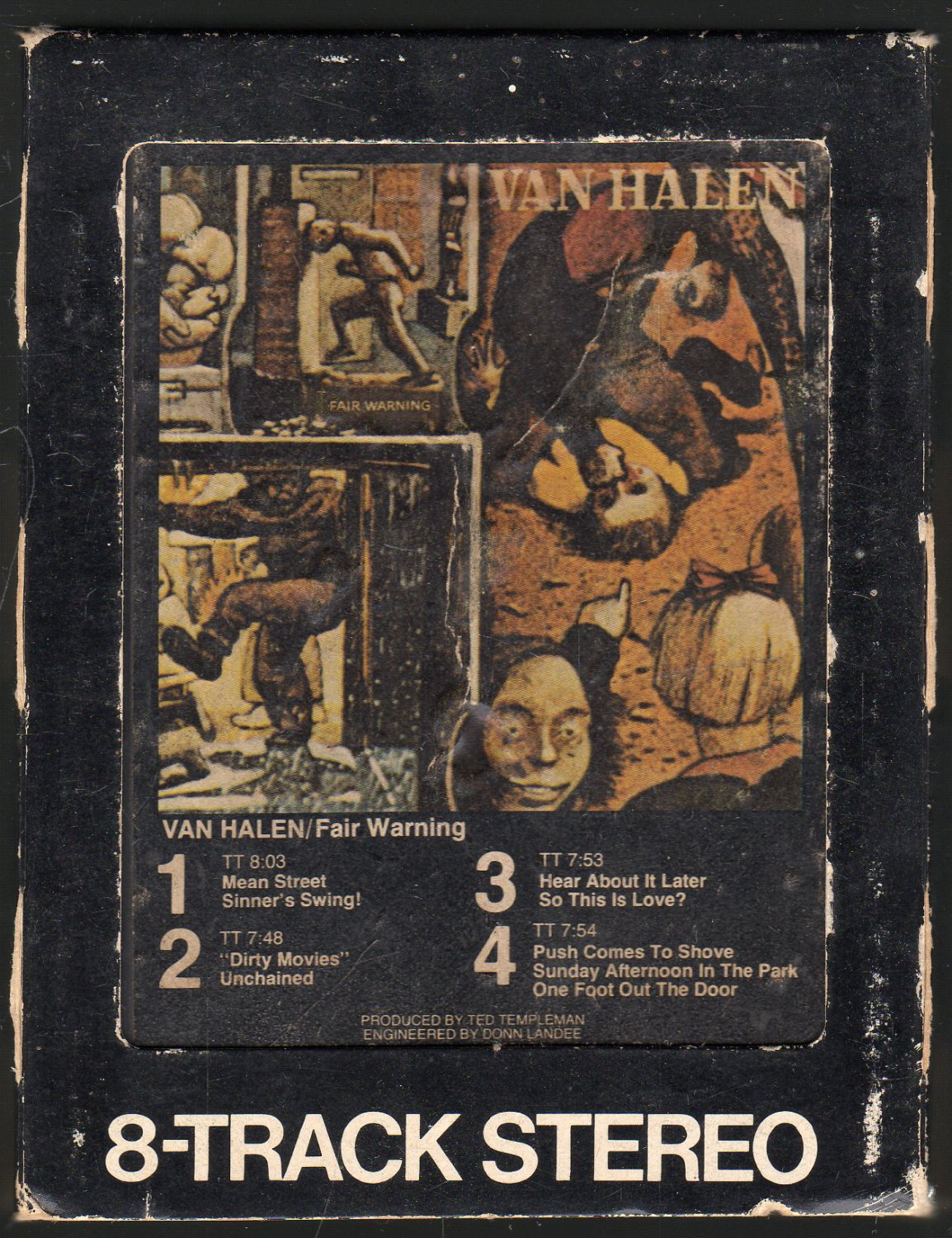 Van Halen - Fair Warning 1981 WB A18F SOLD 8-TRACK TAPE