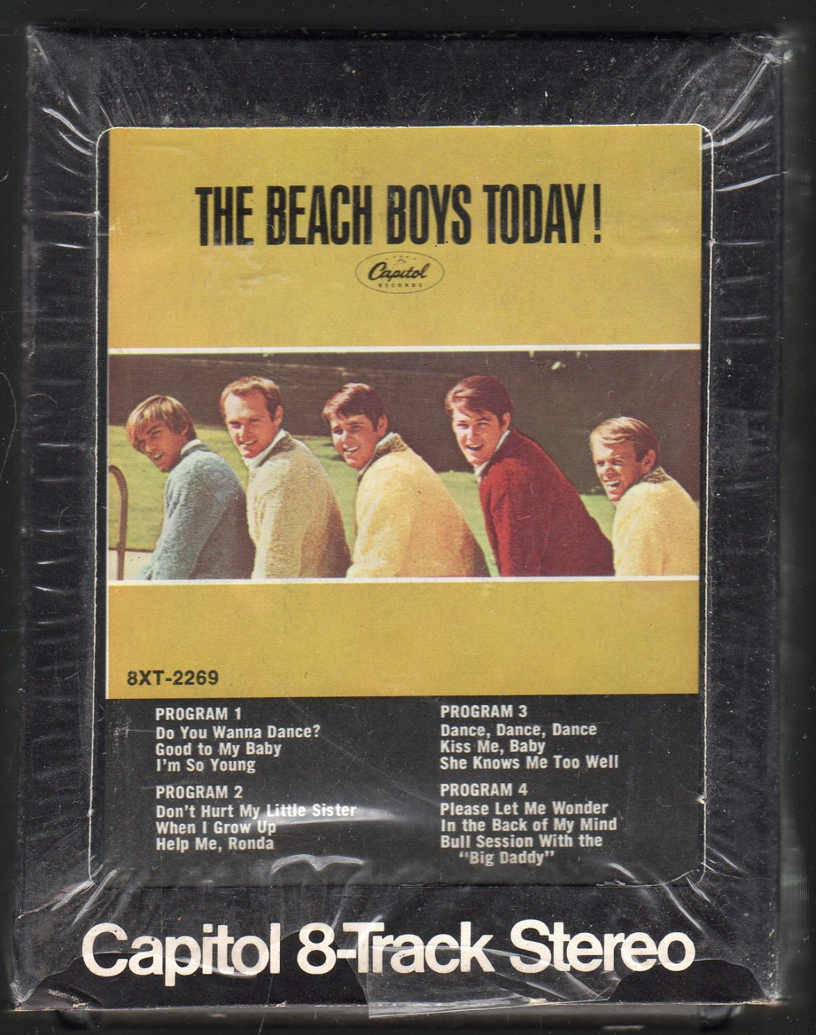 the beach boys the beach boys today 1965 capitol re issue ac5 8 track tape. Black Bedroom Furniture Sets. Home Design Ideas