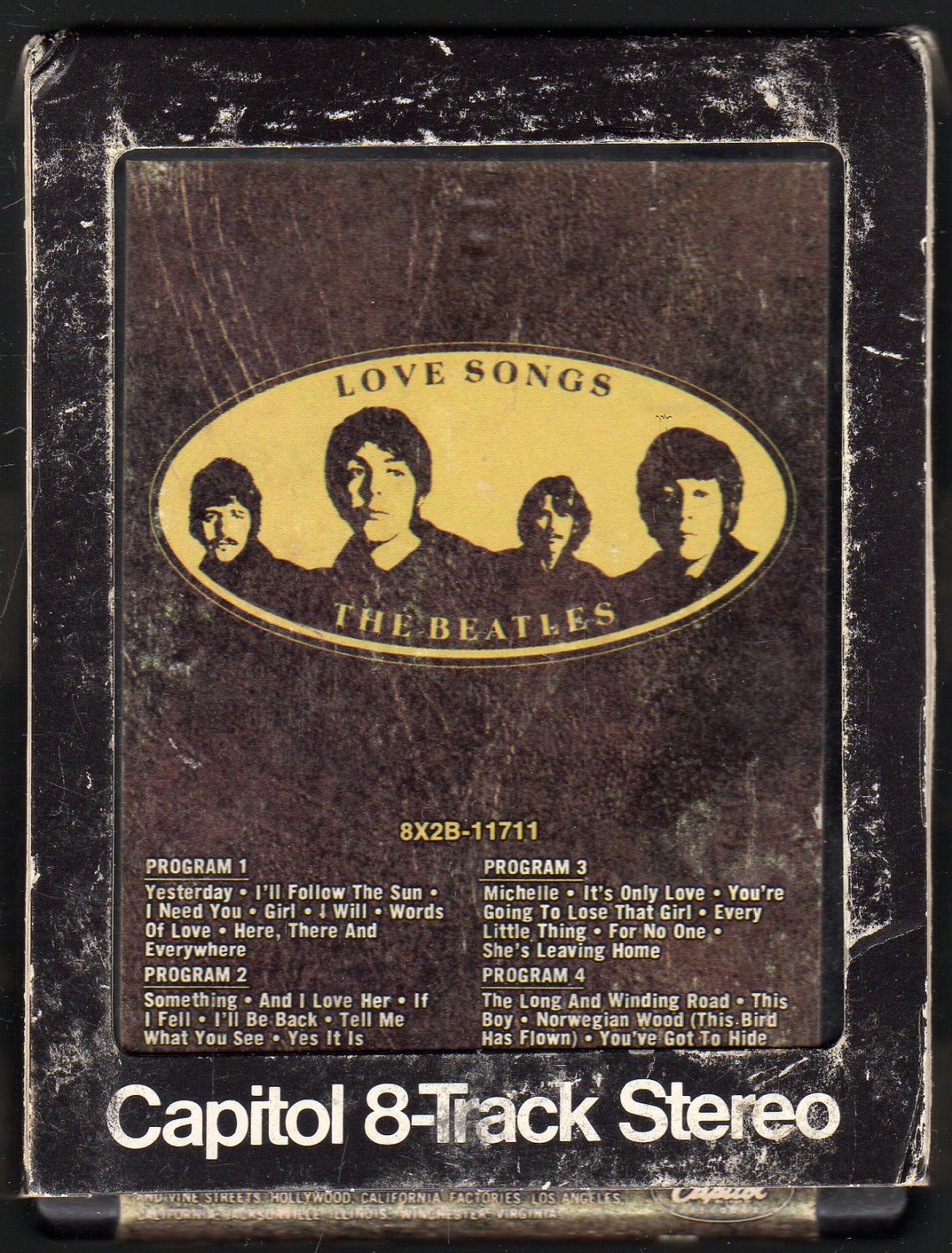 The Beatles - Love Songs 1977 CAPITOL A18F 8-TRACK TAPE