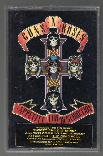 Guns N' Roses - Appetite For Destruction 1987 GEFFEN C1 CASSETTE TAPE