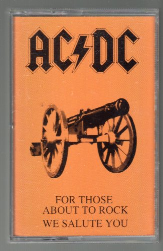AC/DC - For Those About To Rock 1994 WB Re-issue C8 CASSETTE TAPE