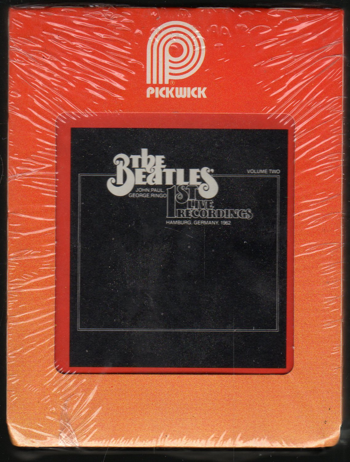The Beatles - Live Vol 2 1st Live Recordings 1978 PICKWICK Sealed A18D 8-TRACK TAPE