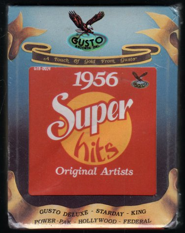 Super Hits 1956 - Original Artists 1979 GUSTO Sealed A18C 8-TRACK TAPE