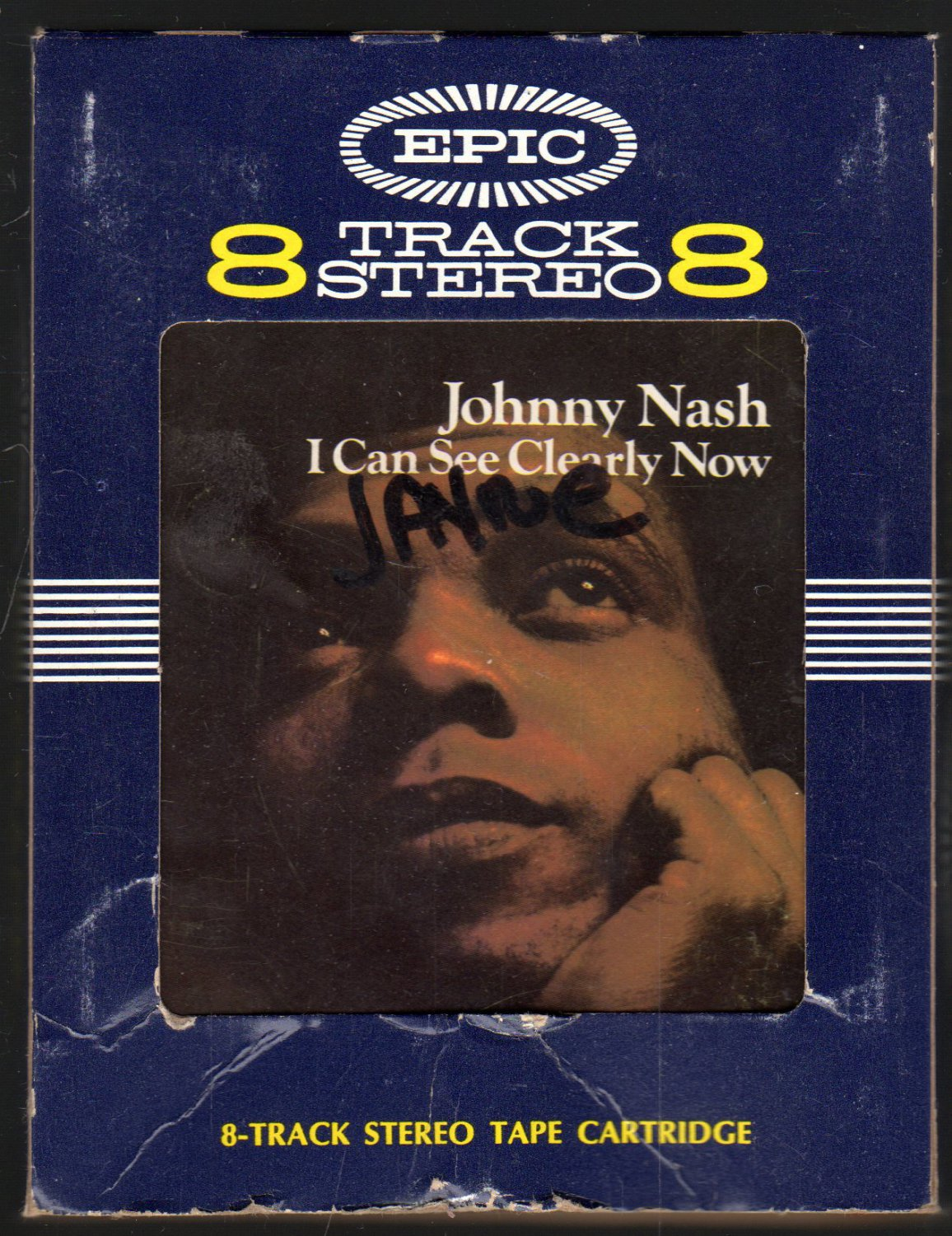 Johnny Nash I Can See Clearly Now 1972 Epic A42 8 Track Tape