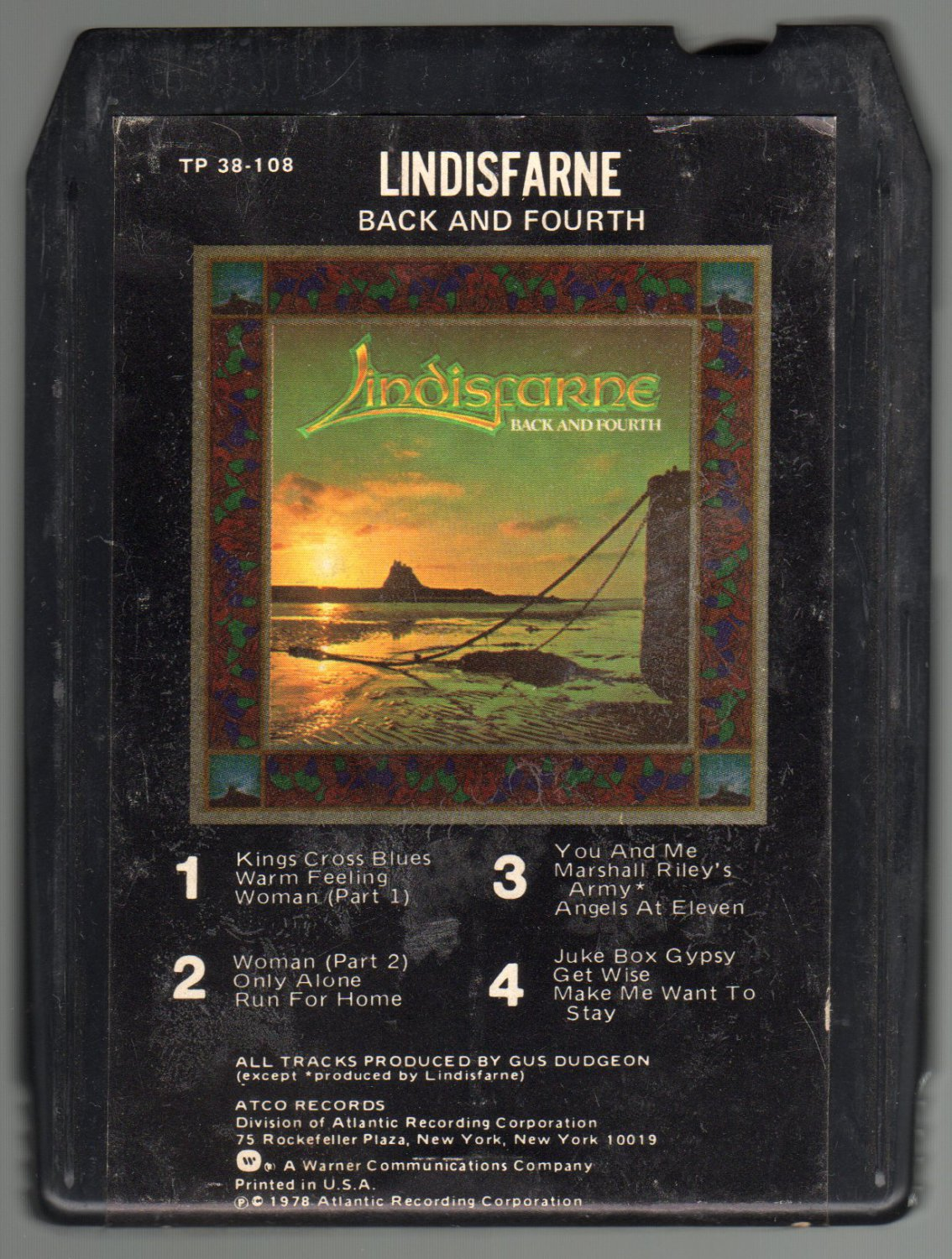 Lindisfarne - Back And Fourth 1978 ATLANTIC A14 8-TRACK TAPE