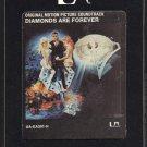 James Bond Diamonds Are Forever - Original Soundtrack 1971 UA Re-issue A20 8-TRACK TAPE