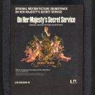 James Bond On Her Majesty's Secret Service - Original Soundtrack 1969 UA A48 8-TRACK TAPE