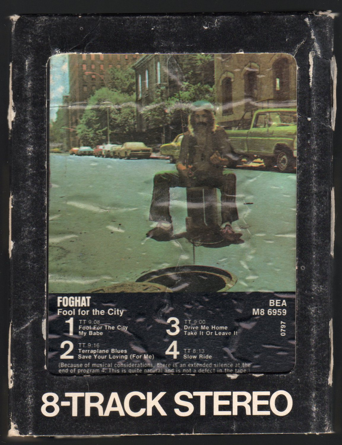 Foghat - Fool For The City 1975 WB A43 8-TRACK TAPE
