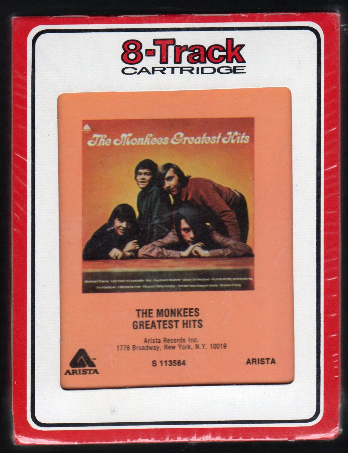The Monkees - Greatest Hits 1972 RCA ARISTA 1985 Re-issue Sealed A4 8-TRACK TAPE