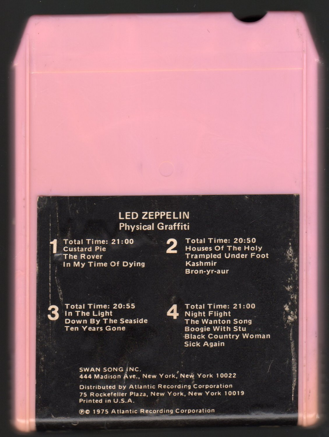 Led Zeppelin - Physical Graffiti 1975 SWAN WB Double Play A4 8-TRACK TAPE