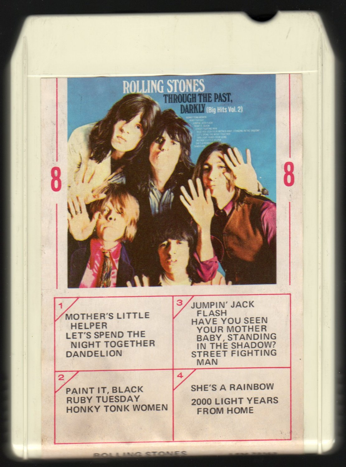 The Rolling Stones - Through The Past Darkly (Big Hits Vol 2) 1969 AMPEX LONDON A4 8-TRACK TAPE