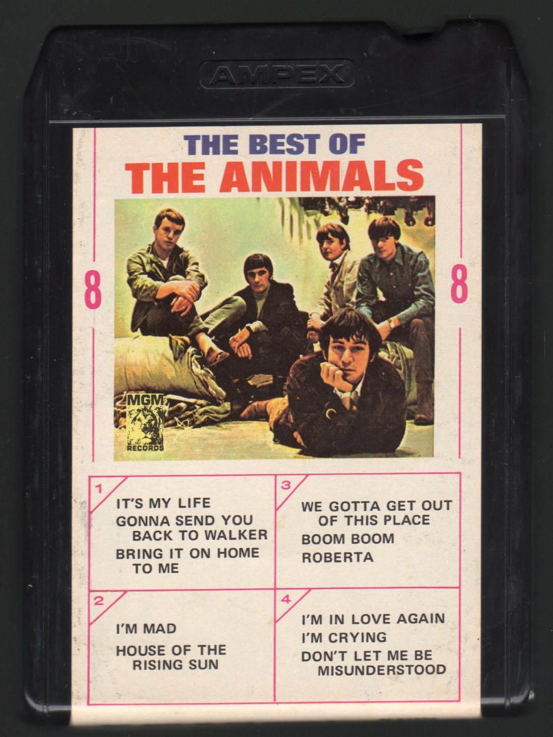 The Animals - The Best Of The Animals 1966 AMPEX MGM A26 8-TRACK TAPE
