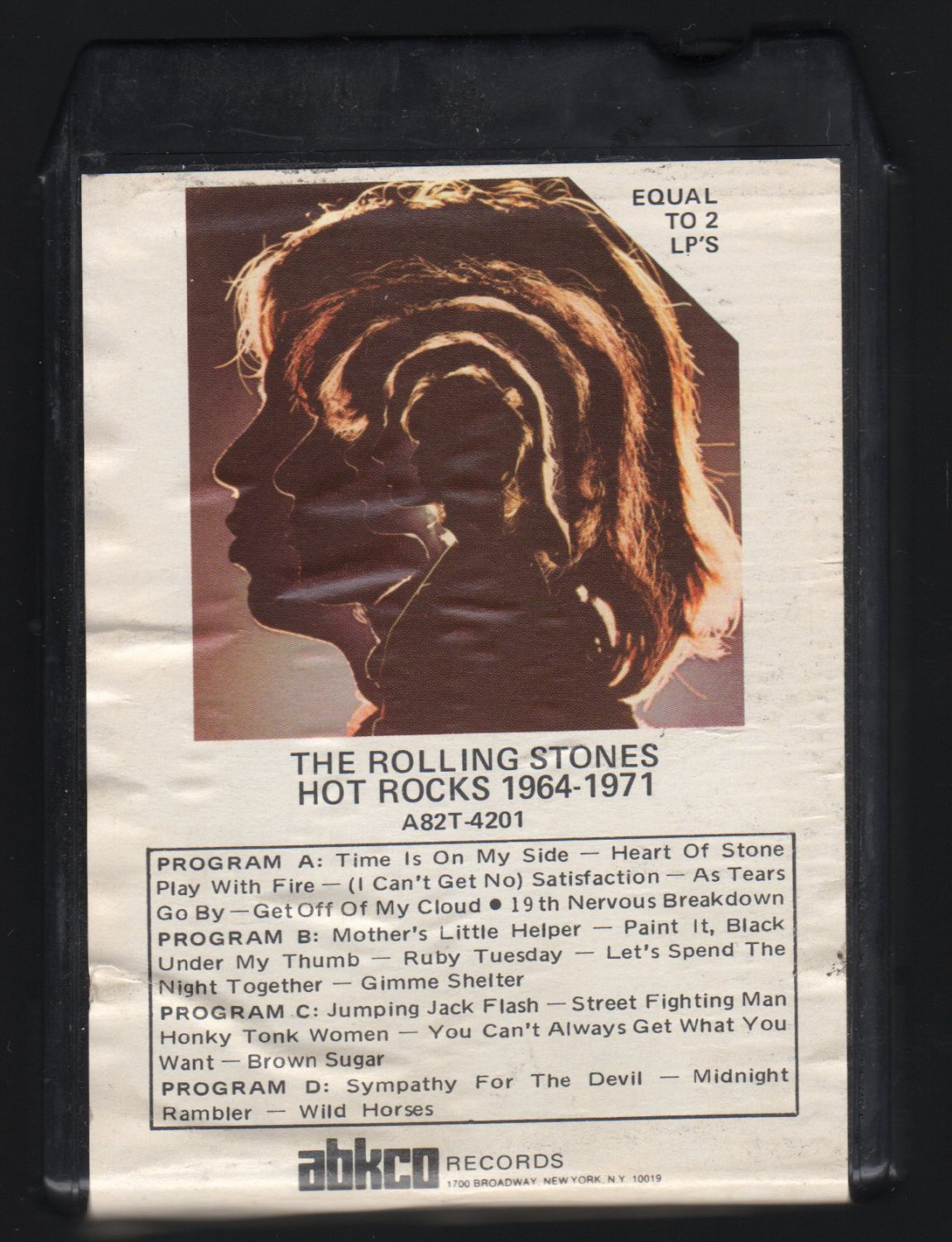 The Rolling Stones - Hot Rocks 1964-1971 1971 ABKCO A2 8-TRACK TAPE