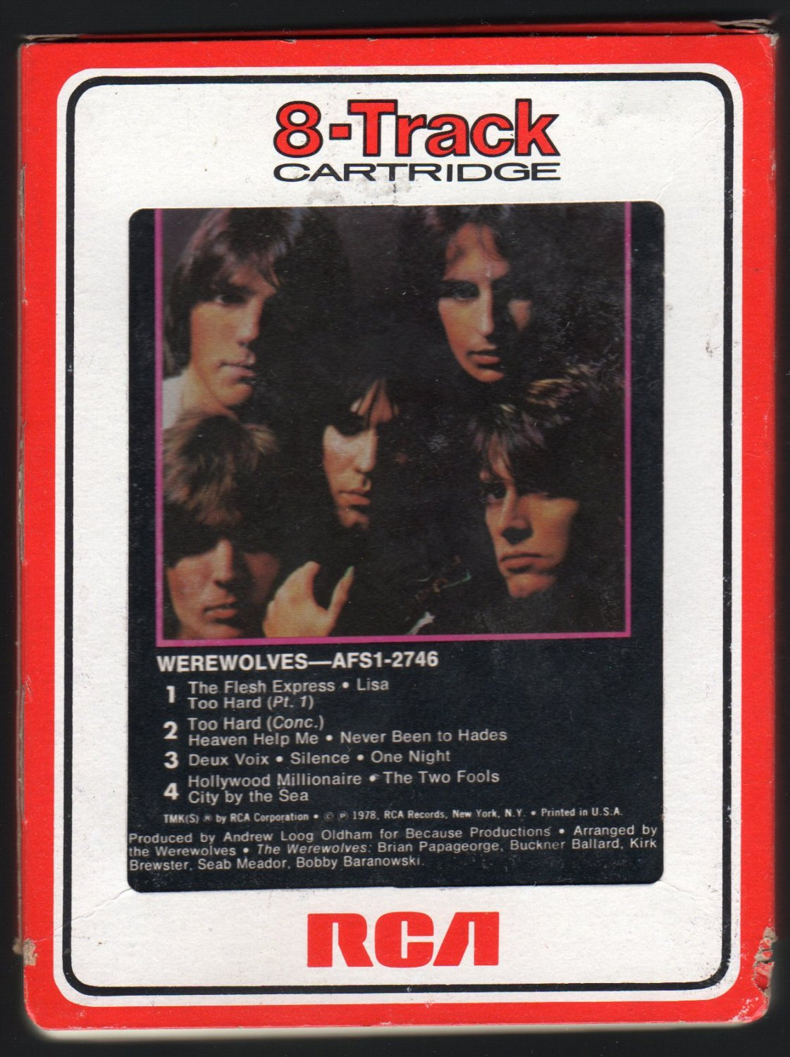 Werewolves - Werewolves 1978 RCA Debut A42 8-TRACK TAPE
