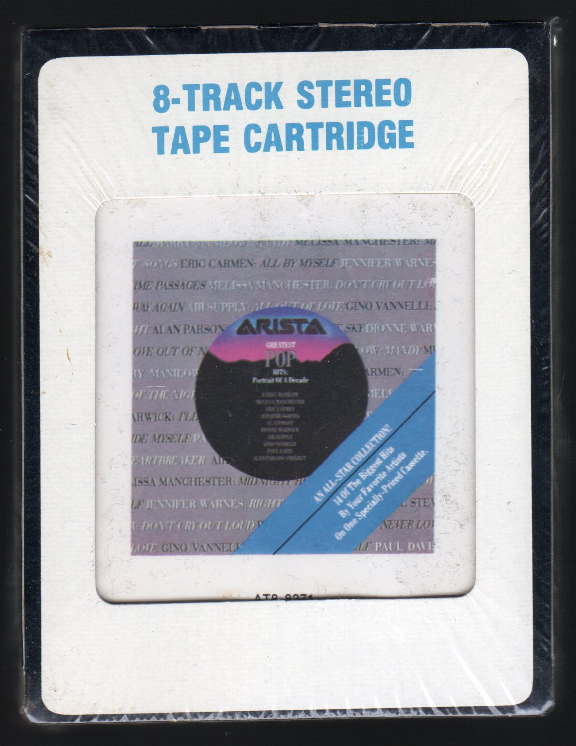 Greatest Pop Hits - Portrait Of A Decade 1985 CRC ARISTA Sealed A25 8-TRACK TAPE
