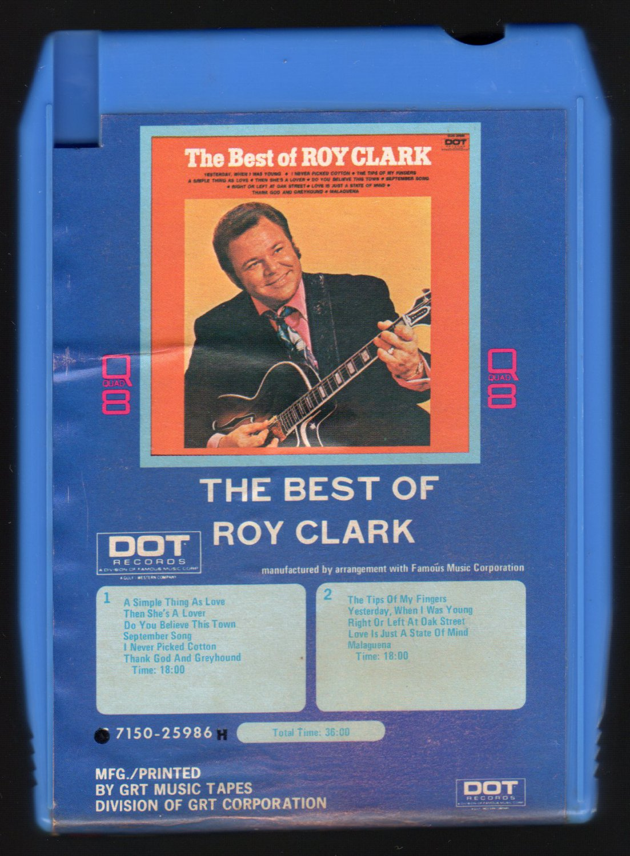 Roy Clark - The Best Of Roy Clark 1971 GRT DOT Quadraphonic A45 8-TRACK TAPE