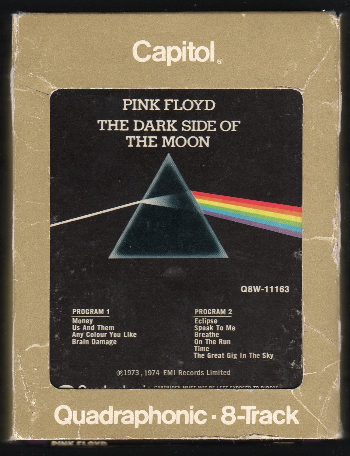 Pink Floyd - The Dark Side Of The Moon 1973 CAPITOL Quadraphonic A19B 8-TRACK TAPE
