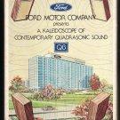 Ford Motor Company - A Kaleidoscope Quadrasonic Sound 1976 RCA Quadraphonic A53 8-TRACK TAPE